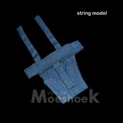 Stud pants blue denim (string)
